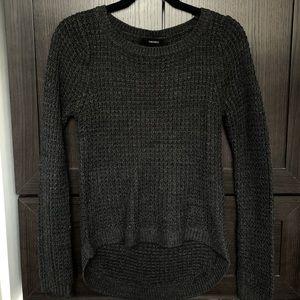 Dark grey almost black knitted sweater